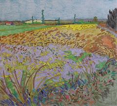 Champ de Blé et les alpilles - Van Gogh - 1888_0 (Luc II) Tags: vangogh blé alpilles