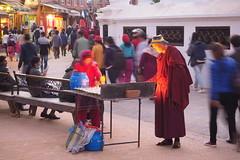 Seeking enlightenment (M.P.Escudero) Tags: nepal kathmandu buddhism travel traveling enlightenment longexposure temple monk