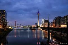 Medienhafen Düsseldorf (schwara76) Tags: lights skyline harbor hafen rhein rheinturm architecture architektur street 23mm xf23mmf14 xt2 fujifilm fuji nightphotography urban nrw city bluehour blauestunde medienhafen düsseldorf