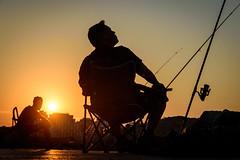 Waiting... (NathalieSt) Tags: europe france hérault lagrandemotte languedocroussillon occitanie borddemer mer nikon nikond5500 nikonpassion nikonphotography sea seaside sunrise leverdesoleil fisherman fishermen pêcheur pêcheurs