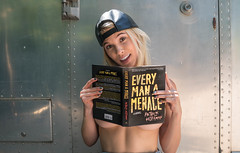 Reading is Sexy (ChrisGoldNY) Tags: chrisgoldny chrisgoldphoto chrisgoldberg bookcover bookcovers licensing forsale sony sonyimages sonyalpha sonya7rii reading read reads books libros book thrillers literature authors patrickhoffman everymanamenace groveatlantic airstream beautiful sexy woman girl girls women backwardshat portrait blonde california losangeles laist la socal cali californiagirls overalls hats westhollywood sunsetstrip models model gorgeous