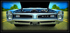 Pontiac (J Michael Hamon) Tags: pontiac carshow hotrod gto columbusindiana transportation car vignette photoborder widescreen grill hamon nikon d3200 sigma 1020mm musclecar indiana