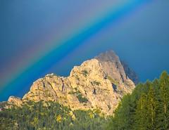 Rainbow Over Mountain (bjorbrei) Tags: rainbow mountain selva wolkenstein valgardena gherdëina gröden dolomites dolomiten dolomiti tyrol tirol tirolo italy italia