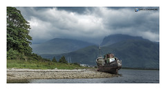 Copach Boatwreck, Scotland. (Gregg Cashmore) Tags: boat wreck scotland highlands holiday greggcashmore canon water loch distance exposure frame wideangle north bennevis mountain