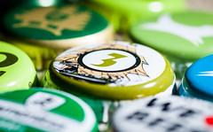 205:365 - Three... (ASBO Allstar) Tags: asboallstar beer caps ledlight lids macromondays project365 ringlight three bottletops green macro