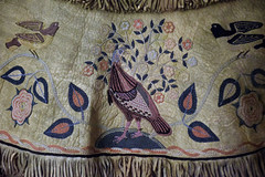 detail of Cherokee embroidery on deerskin coat (1854) (ihynz7) Tags: minneapolisinstituteofart cherokee embroidery embroidered deerskin coat nativeamerican art