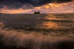 sunset 2619 (junjiaoyama) Tags: japan sunset sky light wave cloud weather landscape orange contrast colour bright lake island water nature spring