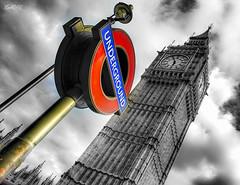 Lollipop (marksmorton) Tags: london bigben clock watch sky blackandwhite contrasts cloud england british love underground subway subways metro outdoors city bigcity capitalcity