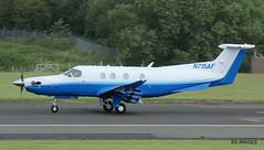 N715AF Pilatus PC12-47E,Glasgow Prestwick 24/6/17 (BS Images.) Tags: n715af pilatus pc1247e pc12 delivery airport aircraft aviation ayrshire egpk glasgowprestwick gpa prestwick prestwickairport pik southayrshire scotland