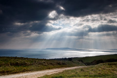 Light Over Portland (RichardBeech) Tags: light lightrays crepuscular weather clouds storm sky moody outdoors weymouth dorset uk ringstead portland island sea bay pathway jurassiccoast canon5dmarkiii canon canon24105mm landscape nature