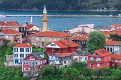 Amasra, Bartin, Turkey (Feng Wei Photography) Tags: minaret traveldestinations blacksea peaceful anatolia scenics eastasia city colorimage oldtown turkeymiddleeast turkeyblackseacoast sea ottoman mosque horizontal buildingexterior ocean beautiful travel amasra house highangleview outdoors bartin turkishculture tourism cityscape turkish turkey tr
