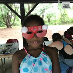 Making Masks at Overnight Camp