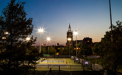 Tennis on the Plaza (KC Mike D.) Tags: courts tennis plaza club country countryclubplaza missouri kansascity stars under lights nighttime evening dusk