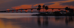 Long Exposure Practice (mimsjodi) Tags: bridge indianriverlagoon titusvillefl water sky sunrise longexposure