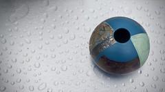 Pot (@WineAlchemy1) Tags: tonylaverick pot ceramics porcelain cumbria raindrops aluminium potfest pottery potfestinthepark huttonintheforest lakedistrict glaze rain surface englishlakes