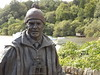 Tom Weir Statue, Balmaha, Stirling, Scotland, 26 July 2017 (AndrewDixon2812) Tags: tomweir statue harbour balmaha stirling scotland loch lomond bay