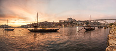 Porto at its best (mystero233) Tags: porto oporto duoro duororiver river water sunset sun dusk reflection reflect boat ship boats bridge portobridge luisibridge city town landscape cityscape citylife historical outdoor sky history
