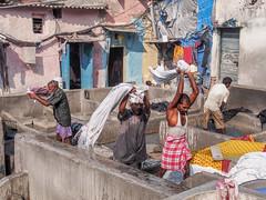 Mumbai 2015 (hunbille) Tags: birgittemumbai1lr india mumbai ghat malabarhill malabar hill washing laundry dhobi wallah bombay walla wala dhobiwalla