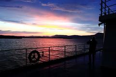 Sunset in Corfu Island (Alessio Vincenzo Liquori) Tags: sunset corfu greece sea boat mediterranean sky silhouette mare cielo tramonto grecia canon m5 efm 1122 456 is stm
