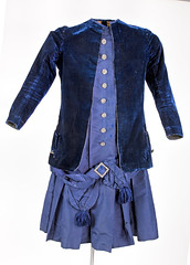 Blue child's dress with jacket (Madison Historical Society (CT-USA)) Tags: madisonhistoricalsociety madisonhistory mhs madison connecticut conn ct country newengland nikond600 nikon d600 bobgundersen old historical history antiques museum clothing costume allisbushnellhouse abhouse gown textile bostonpostroad route1 interesting image inside indoor shot design 2485mmf3545g