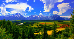 BBBBEST SNAKE RIVER TETONS PAN 4 (Gerry Slabaugh) Tags: gerryslabaugh yellowstone grand tetons wyoming mountains rockies rockymountains national park