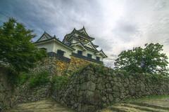 the main tower of Hikone-jo castle,  HDR (armada_rider_jp) Tags: 彦根城 彦根 城 hikonejo castle hikone shiga sky fortress medieval stone stonewall japan nationaltreasure 国宝 滋賀