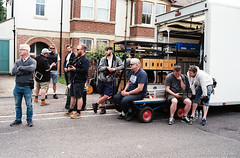 Behind the scenes during filming of Endeavour S5E2 (Bossnas) Tags: 2017 35mm c41 endeavour film filming fuji hexar jobo konica oxford pakon s5e2 superia200