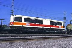 MUNI 1214 / PC - City of Industry CA - 03/16/80 (RockAndRail) Tags: citofindustry industry sanfrancisco ca california muni municipalrailway trolley flatcar boeing vertol boeingvertol lrv