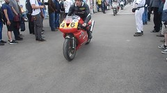 Motorbikes Going to the Assembley Area, Goodwood Festival of Speed (1) (f1jherbert) Tags: nikon coolpix s9700 goodwood festival speed 2017