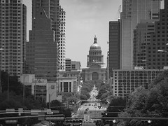South Congress to the Capitol (joncutrer) Tags: austin texas blackandwhite bw monochrome streetphotography street panasonic gx8 lumix congress capitol downtown