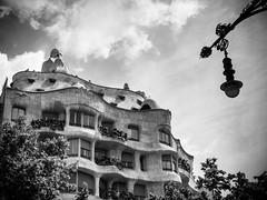 La Pedrera. Barcelona (missfisher') Tags: barcelona gaudi lapedrera olympus architecture casa mila omd em10