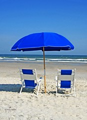 Blue Umbrella & Chairs-Myrtle Beach SC 1503