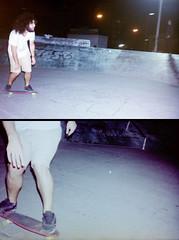 (inés mihalik) Tags: 35mm analog analogue analógico film skate skatepark patineta noche night nite urban ciudad city montevideo uruguay yashica retrato portrait