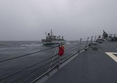 170716-N-BY095-0021 (SurfaceWarriors) Tags: ussshoup ddg86 insjyoti replenishmentatsea destroyer arleighburkeclass deployment carrierstrikegroup11 desron9 malabar2017 bayofbengal