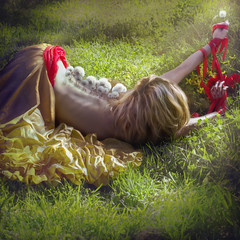 'Back Breaking Wishes' (Natasha Root Photography) Tags: natasharootphotography imagine inspire create conceptual series spine back breaking wishes offer give bound red yellow painterly