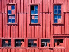 Barn Windows 2476 C (jim.choate59) Tags: barn window wall jchoate red hww rural ruraldecay d610 on1pics