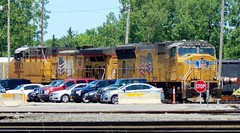UP Power in Frontier Yard (BuffaloRailfan30) Tags: buffalo ny trains frontier yard csx unionpacific up sd70m