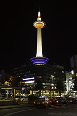 Kyoto Tower by night... (Zoltán Melicher) Tags: kyoto kyotoprefecture japan asia sony nex7 sel1670z variotessarte41670 zeiss carlzeiss city cityscape night modern architecture tower building art hotel mirrorless street
