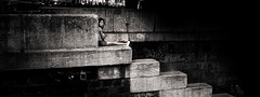 Summertime II (LoKee Photo) Tags: lokee low key black white monochrom light shadow contrast city street urban woman paris quais seine sigma dp2 merrill