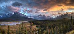 Sunset after the Storm (John Payzant) Tags: sunset banff park alberta canada hdr panorama