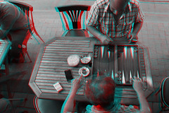Istanbul, Turkey (DDDavid Hazan) Tags: istanbul turkey coffeeshop backgammon tavla tea anaglyph 3d bwanaglyph blackandwhiteanaglyph 3danglyph 3dstereophotography redcyan redcyan3d stereophotography stereo3d streetphotography