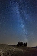 Milky Way in Tuscany - Val d'Orcia (Red Baron 3) Tags: notturno valdorcia nikond750 milkyway vialattea cipressi cypresses