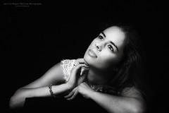 Pure III (Passie13(Ines van Megen-Thijssen)) Tags: studioshoot pure puur portrait portret girl woman blackandwhite bw sw zw zwartwit monochrome monochroom monochrom fineart canon netherlands inesvanmegen inesvanmegenthijssen