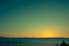 Lirquén (Sebastiandx) Tags: night lights ocean landscape sky blue sun concepción chile nikon d3200 sunset photo photography photos horizon photographer