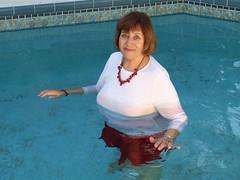 Anniversary skirt swim, III (clarkfred33) Tags: pool water wade wetadventure wetfun wetlook wetclothes wetskirt anniversary thought swimmingpool wetwoman