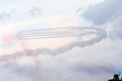Big Curve (quintinsmith_ip) Tags: redarrows red arrows smoke white blue plane jet formation raf british royalairforceaerobaticteam royal air force aerobatic team bae hawk t1 baehawkt1 southshields gnr greatnorthrun2017sunderlandsaturday2017air show international fly flying demo smoking