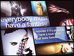 Everybody Must Have A Fantasy (Lloyd Thrap) Tags: lloydthrap albuquerque art laurabeck usflag fantasy photography photoshop rabbit warhol quote flickr love affair poster resist fall rome red white blue albuquerquephotographersandartists