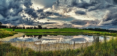 IMG_4509-11Ptzl1scTBbLGER (ultravivid imaging) Tags: ultravividimaging ultra vivid imaging ultravivid colorful canon canon5dmk2 clouds sunsetclouds stormclouds scenic vista rural rainyday summer evening pennsylvania pa panoramic fields farm pond water reflections painterly twilight