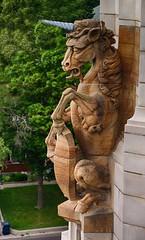 Unicorn (Nine is the Magic Number) Tags: sculpture unicorn gargoyle casaloma toronto ontario