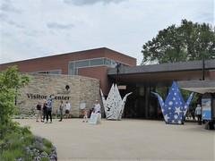 Lisle, IL, Morton Arboretum, Visitor Center, Origami in the Park, Crane Sculptures (Mary Warren (8.7+ Million Views)) Tags: lisleil mortonarboretum origamiinthepark visitorcenter stone limestone art sculpture crane origami